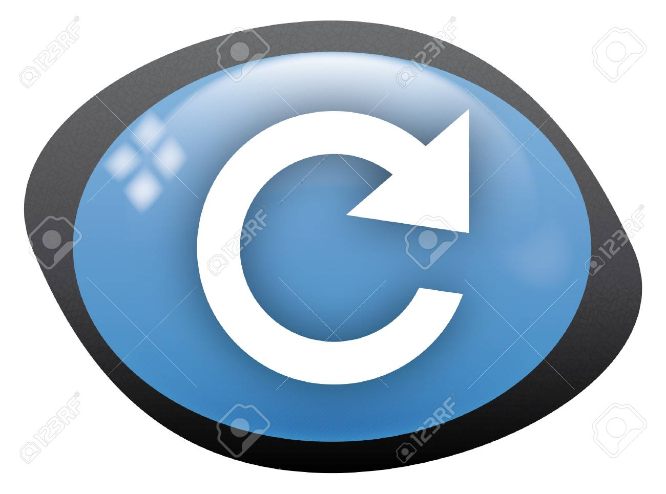icon oval refresh Stock Vector - 8304811