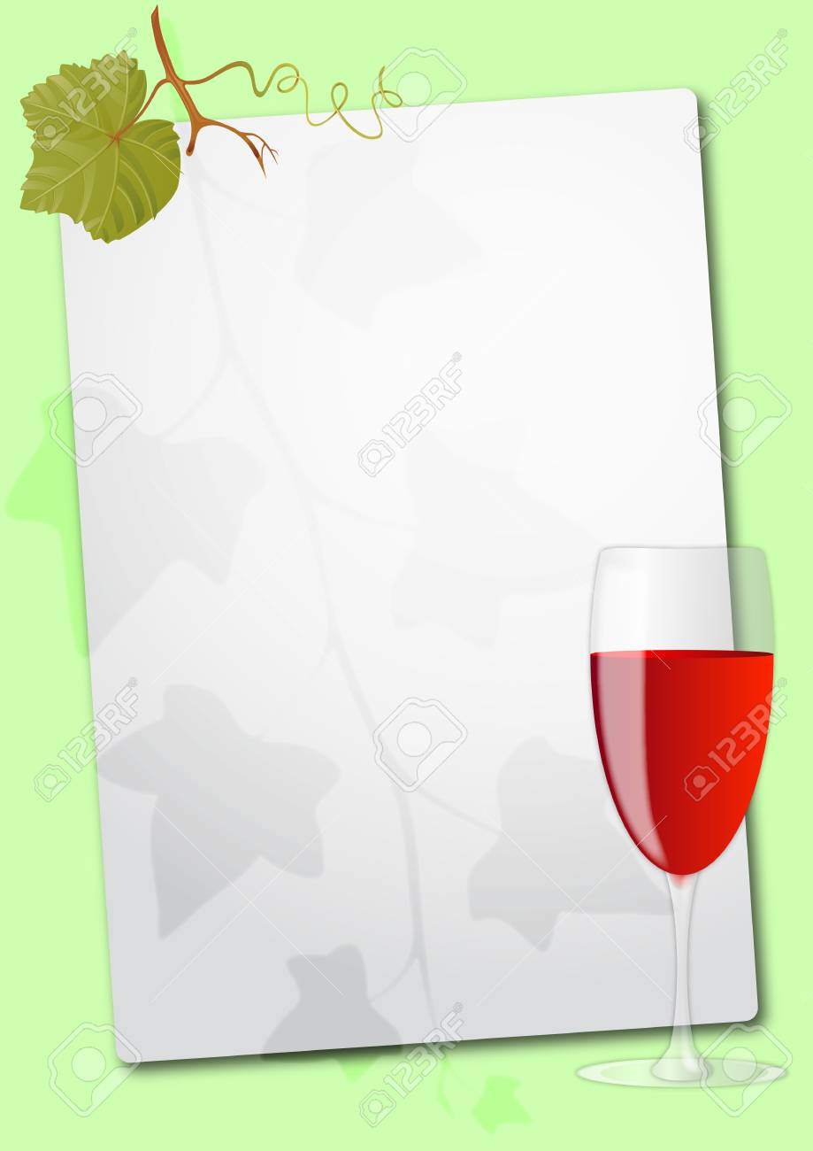 illustration of sheet with red wine glass Stock Vector - 10192747
