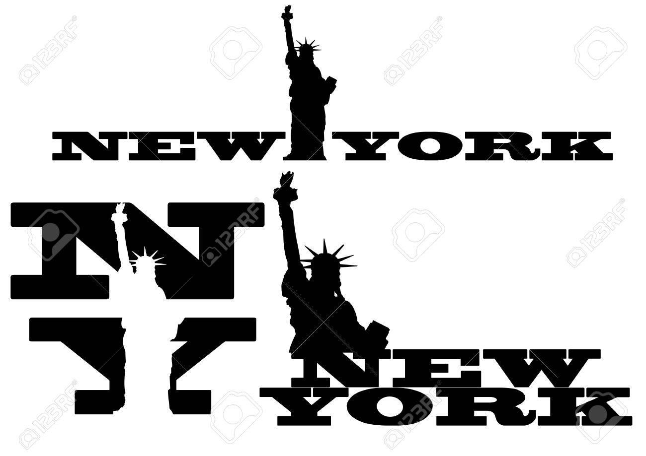 ニューヨーク自由の女神像のイラストのイラスト素材ベクタ Image