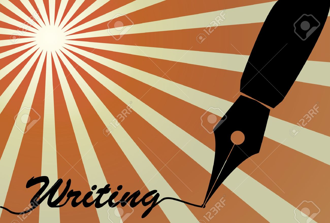 illustration of fountain pen nib with writing text Stock Vector - 11221268