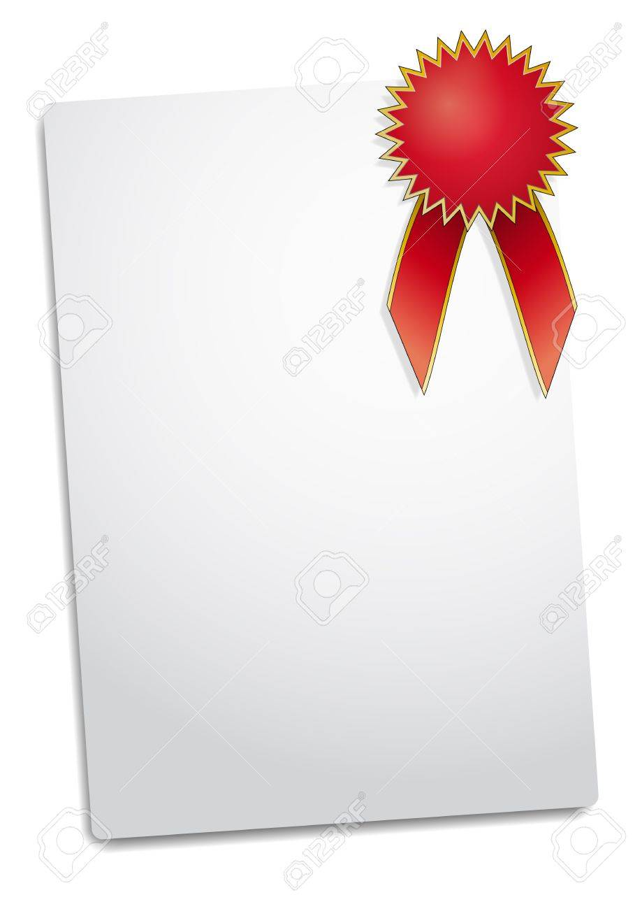 illustration of Blank red award ribbon rosette Stock Vector - 11809904