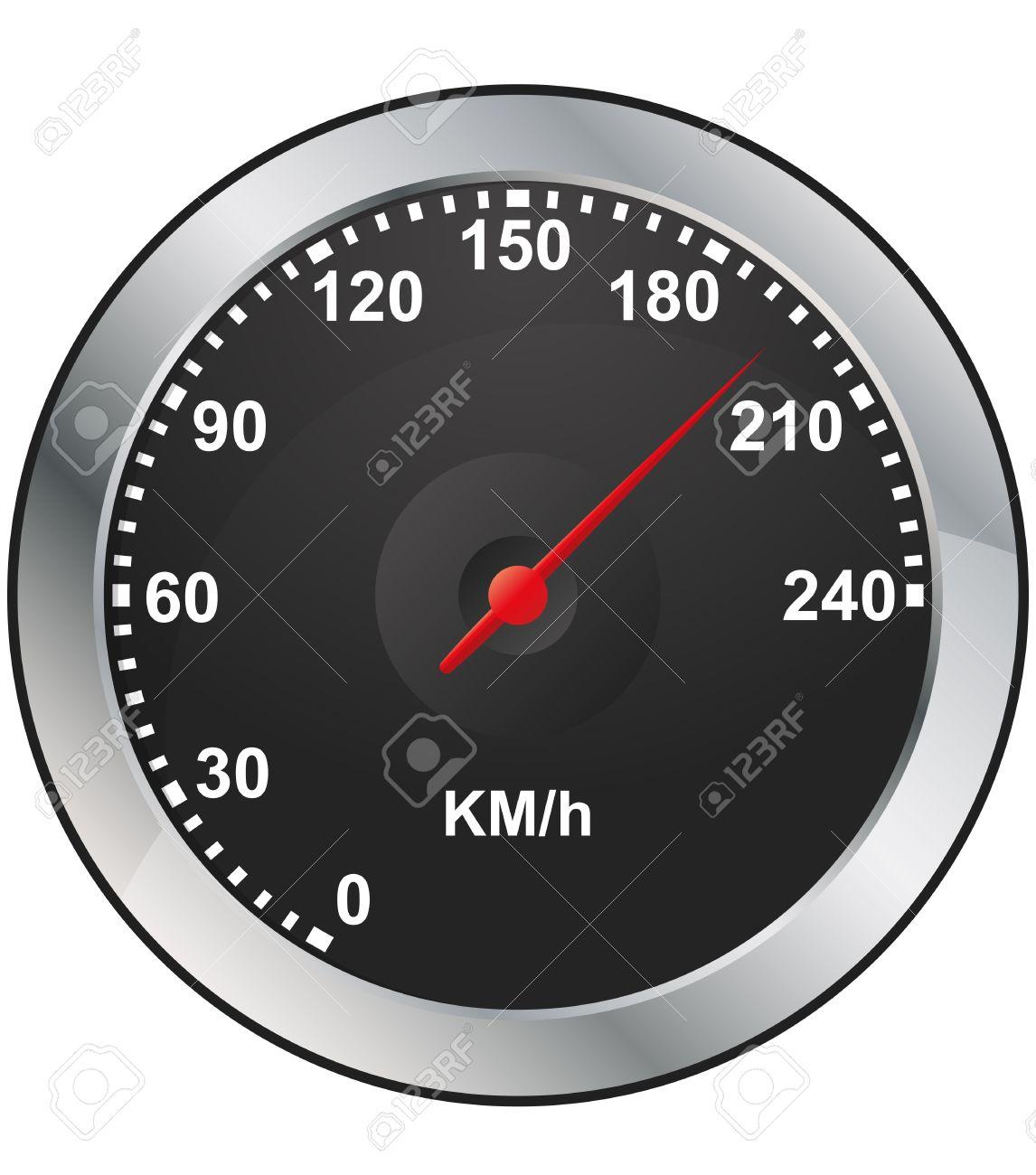 illustration of odometer of car dashboard Stock Vector - 12922558