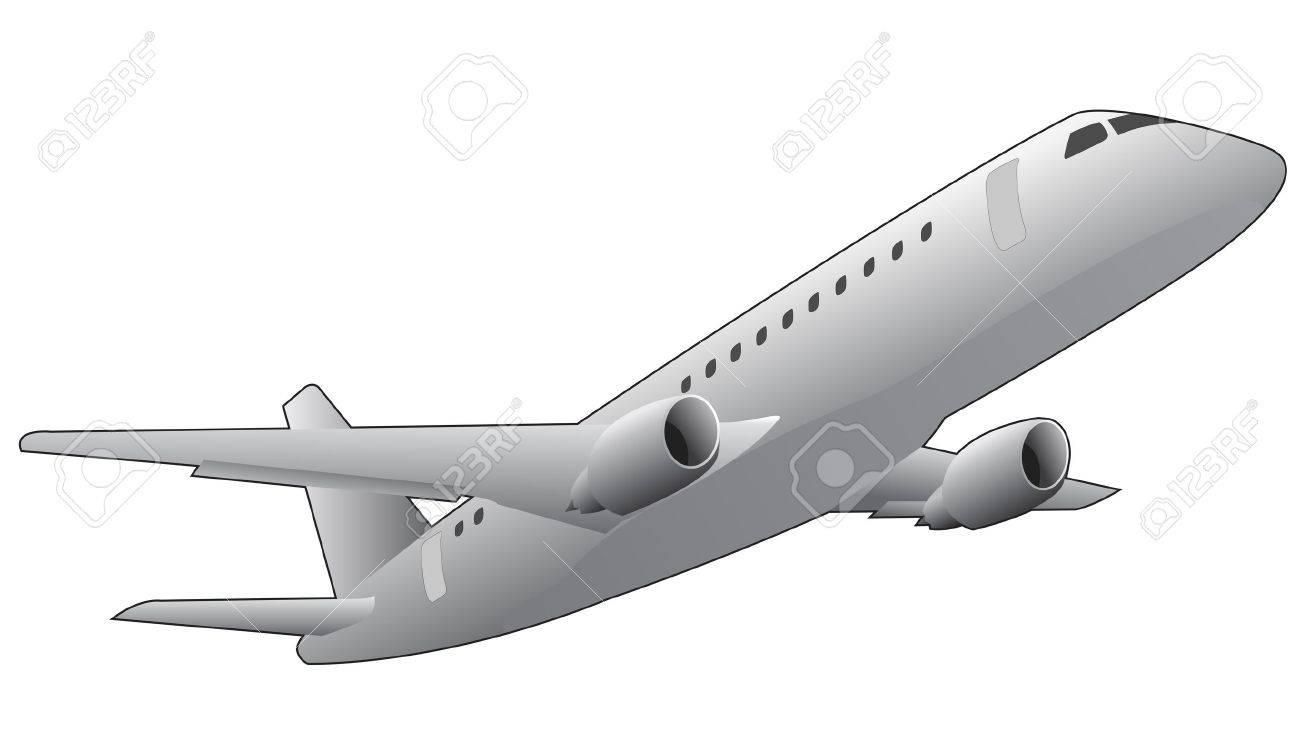 下から見られる飛行機のイラストのイラスト素材ベクタ Image 13876654