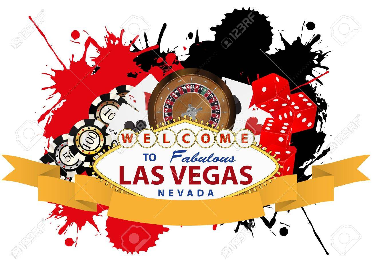 illustration of las vegas with yellow ribbon Stock Vector - 17843144