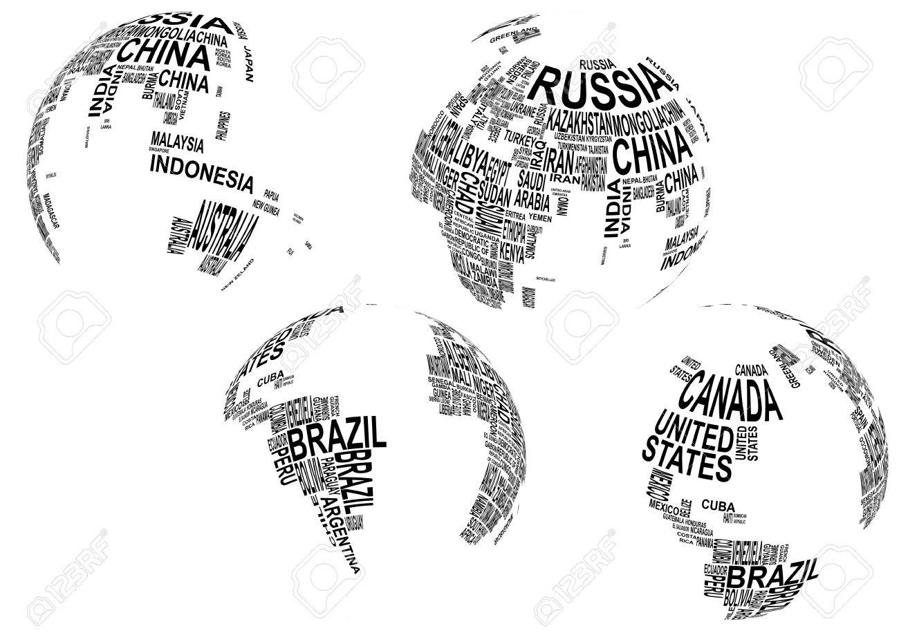 Illustration of world map globe with country name ilustraciones illustration of world map globe with country name foto de archivo 18264413 gumiabroncs Choice Image