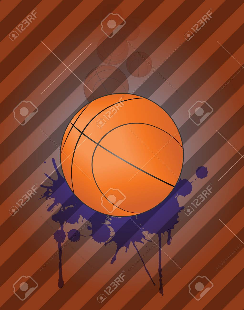 illustration of basket ball with grunge steins Stock Vector - 19482550