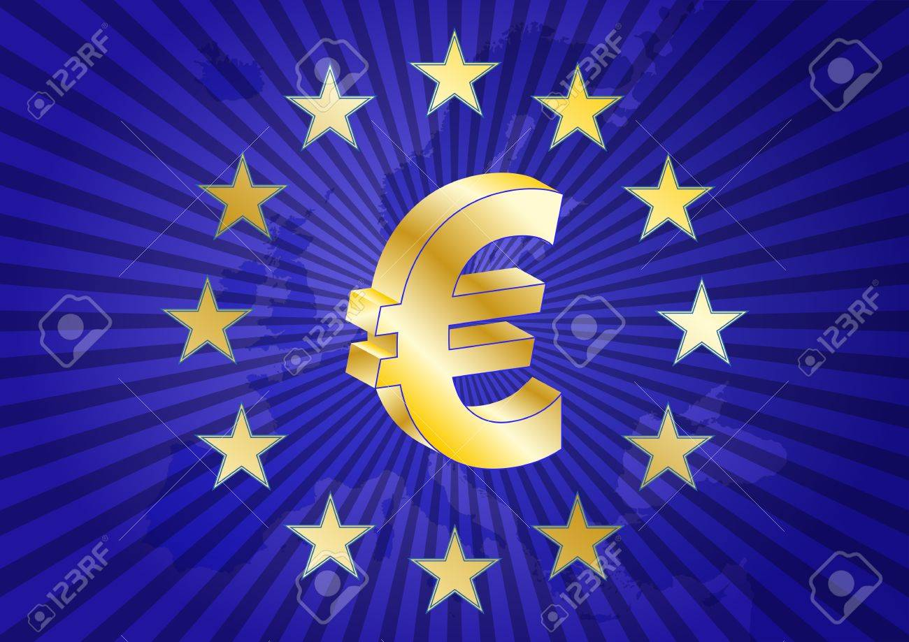 Illustration of euro currency symbol with europe maps royalty free illustration of euro currency symbol with europe maps stock vector 19877279 biocorpaavc Images