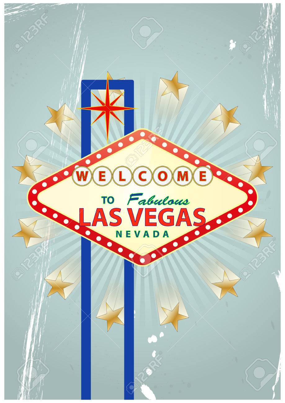 illustration of las vegas signal with vintage background Stock Vector - 23197901