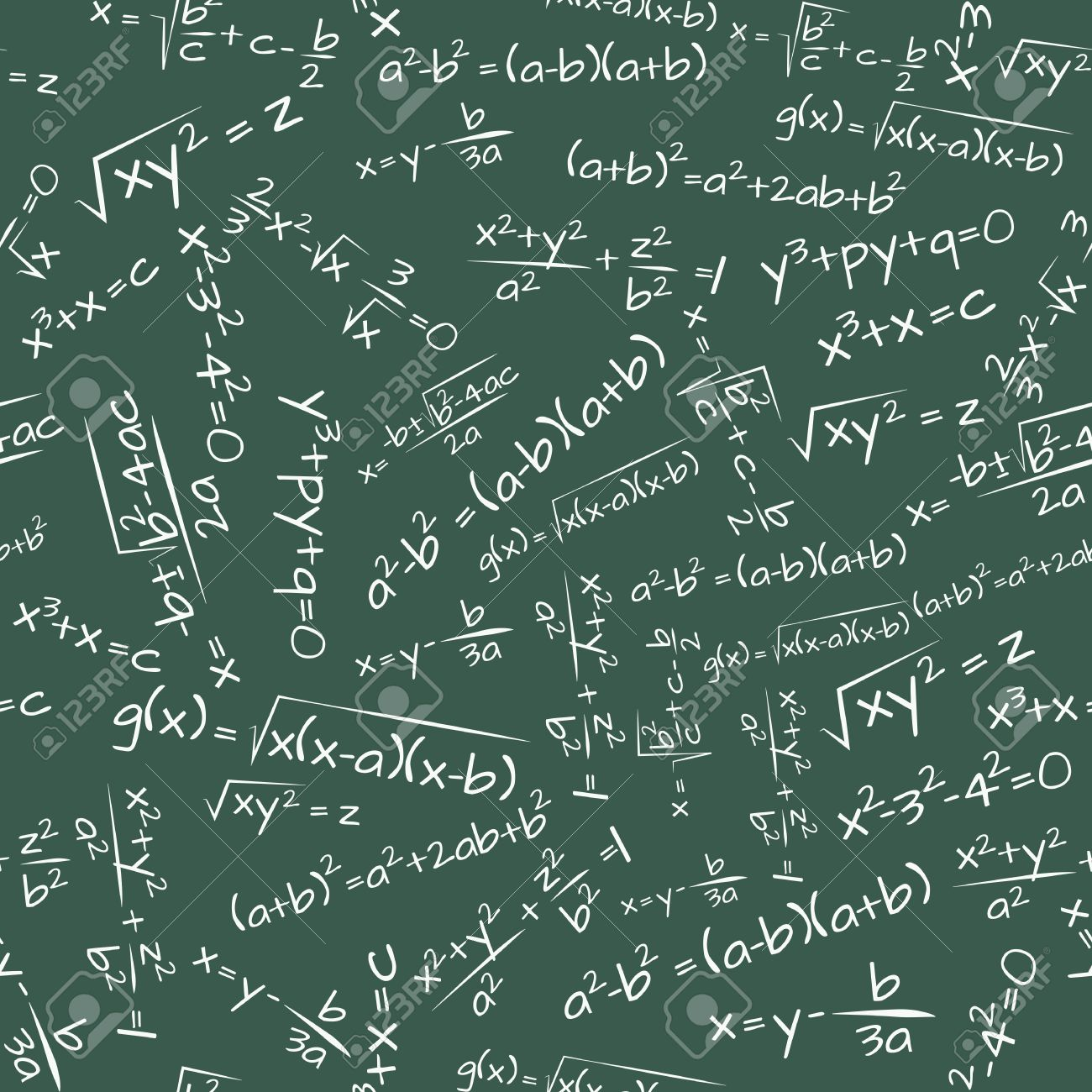 illustration of math formula on chalkboard seamless pattern royalty