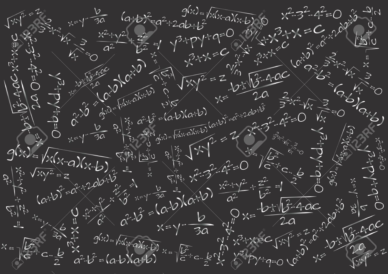illustration of chalkboard with math formula royalty free cliparts