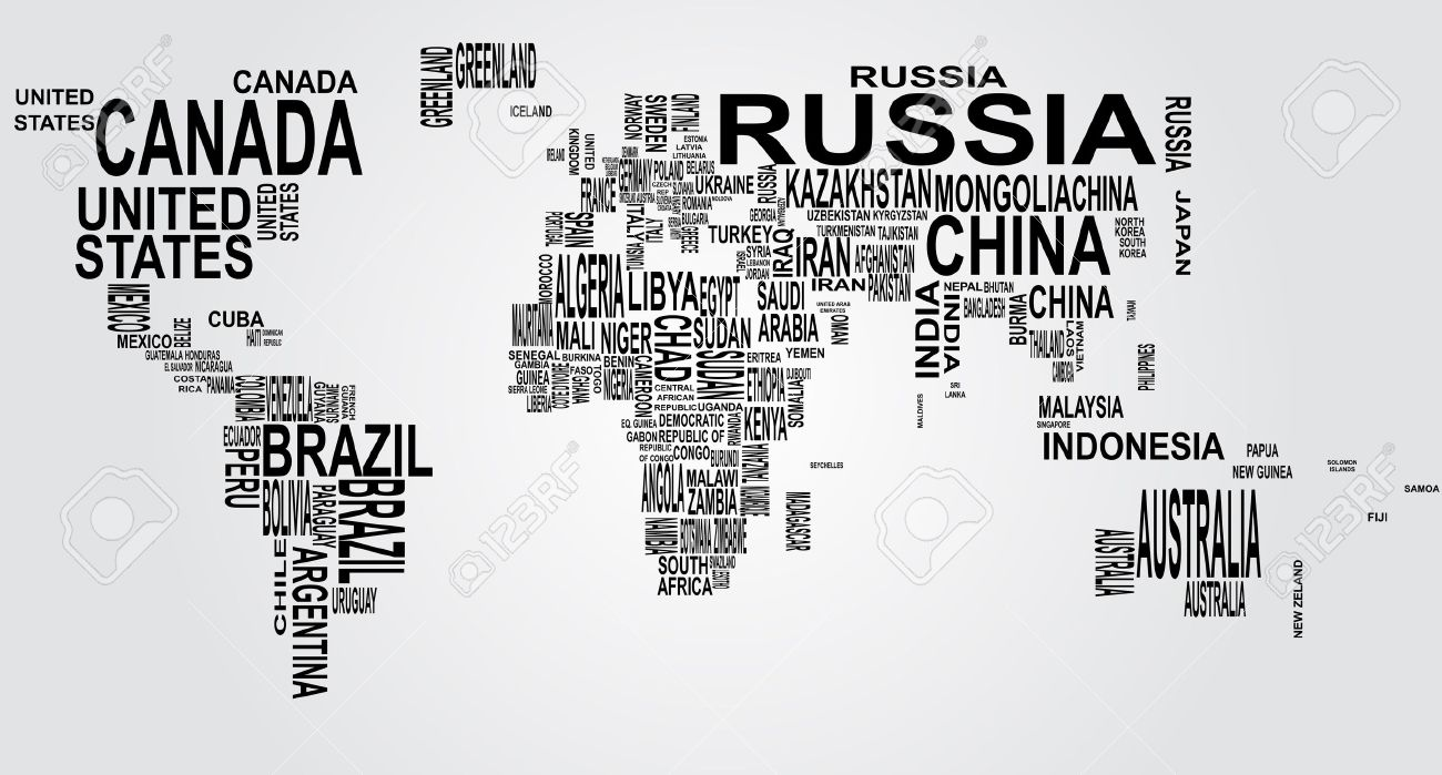 Illustration of world map with country name royalty free cliparts illustration of world map with country name stock vector 39342930 gumiabroncs Image collections