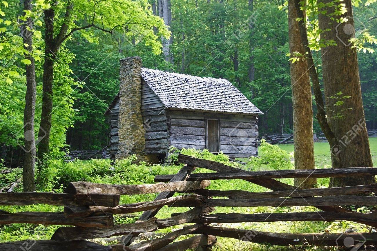 Early Morning at Jim Bales Place, Great Smokey Mountains National Park Stock Photo - 9635729
