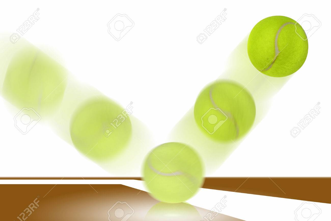 Tennis Ball Bounces On Court Stock Photo Picture And Royalty Free