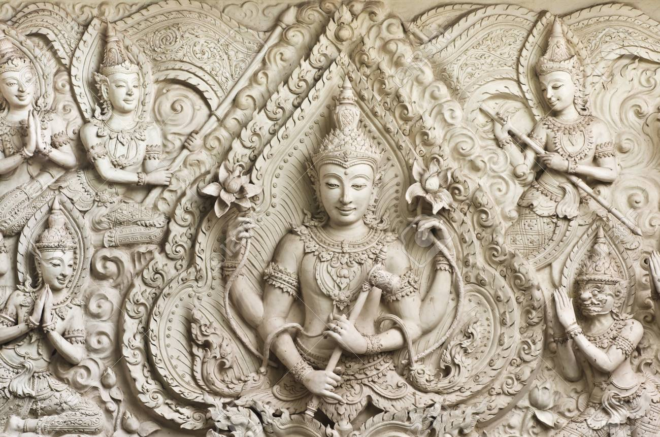 Buddha statue in Thai style molding art ,Thailand Stock Photo - 13342411