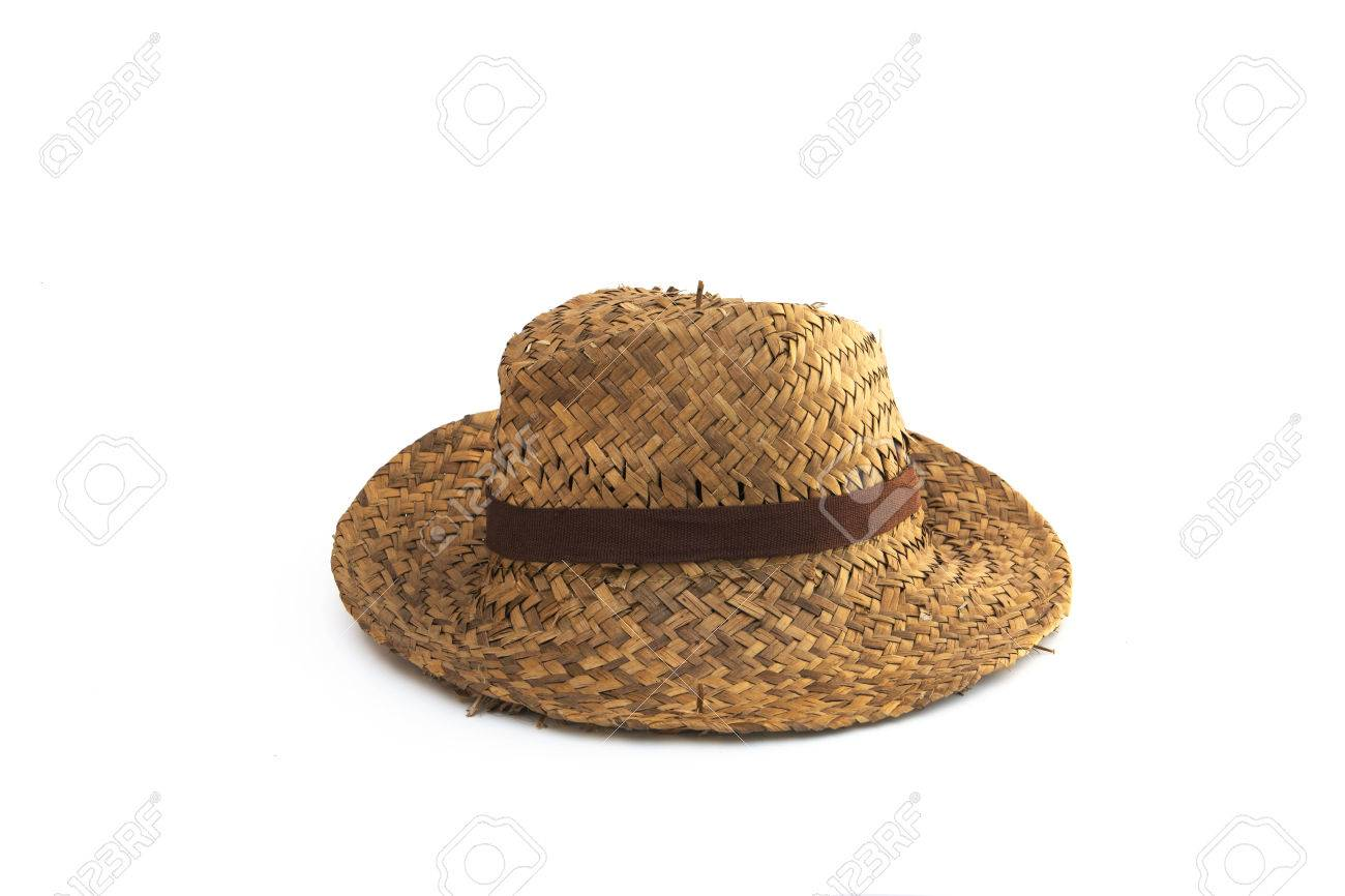 Stock Photo - straw hat isolated on white background 8438f1e0a9e1