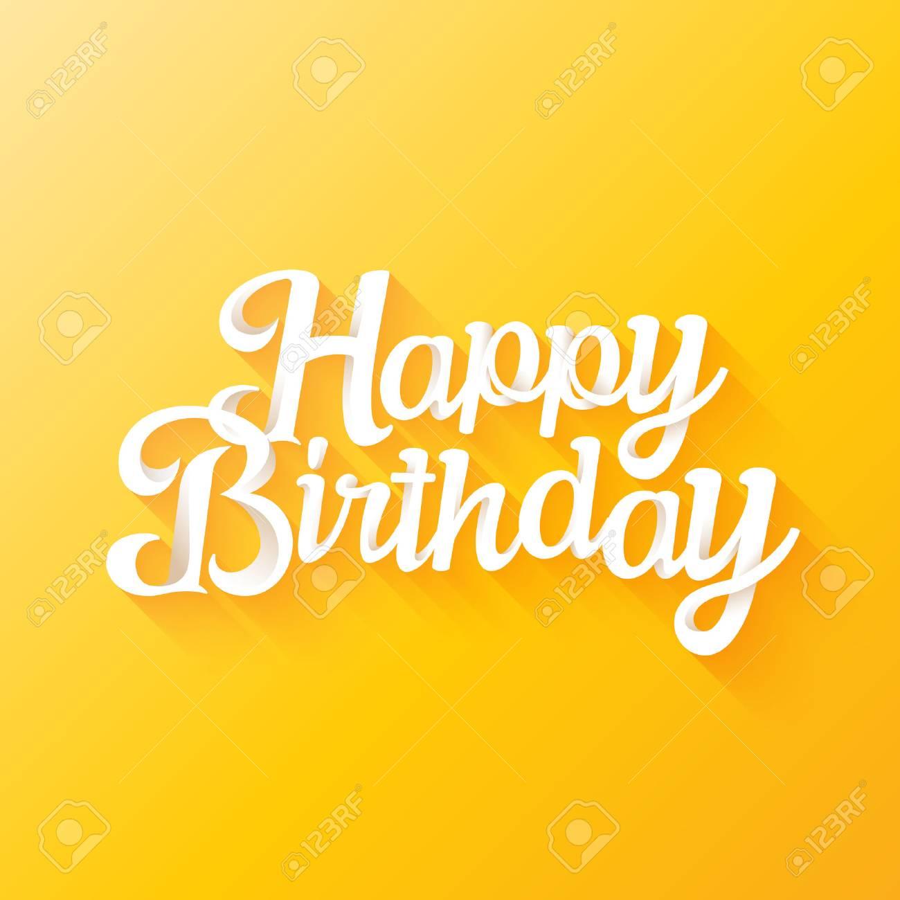 Happy Birthday beautiful 3d lettering design Stock Photo - 76533988