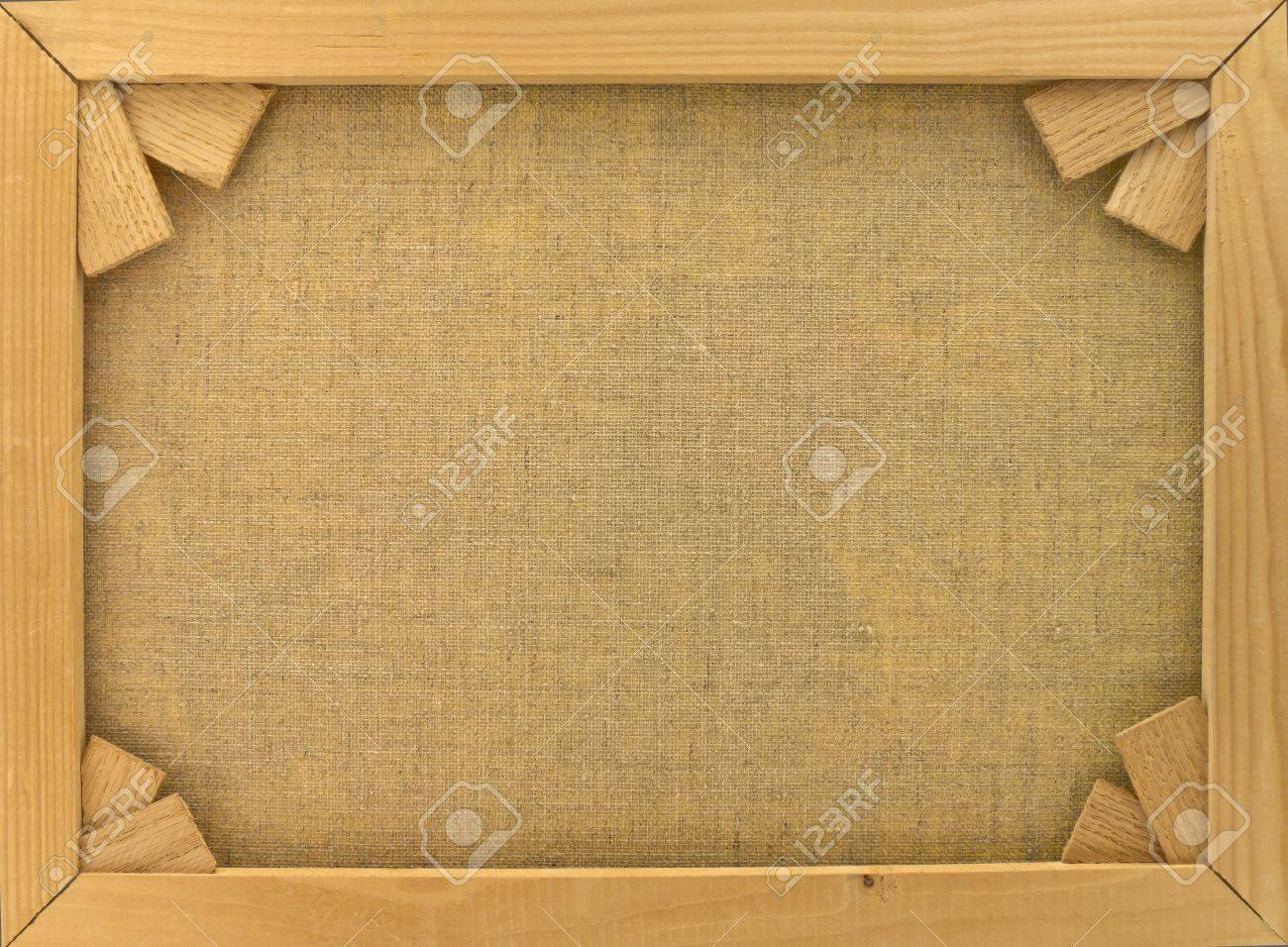 Back of canvas in  wooden frame with stretcher bars Stock Photo - 9830955