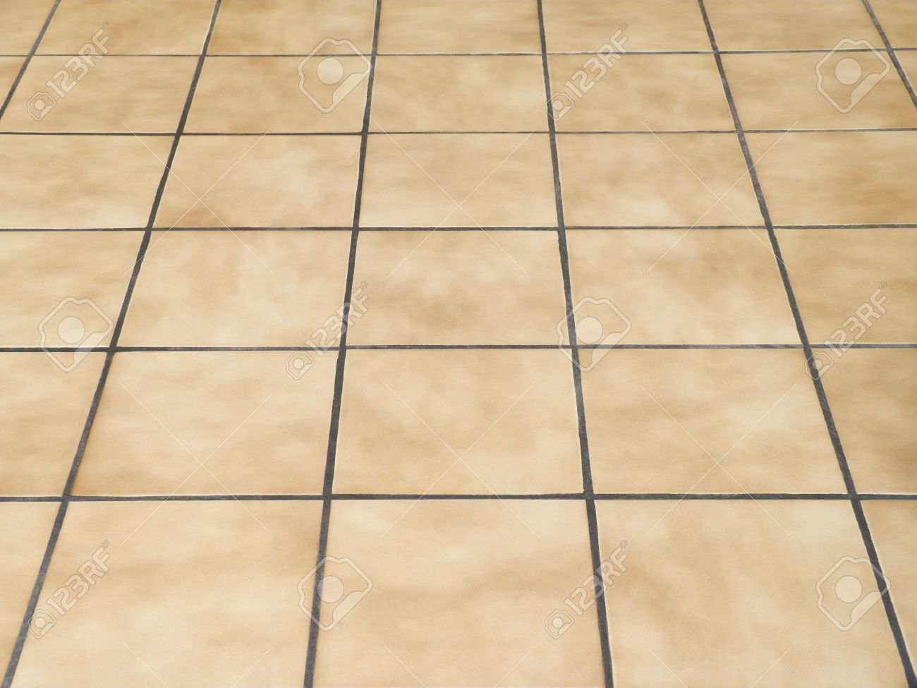 Brown Ceramic Floor Tiles Closeup Texture Stock Photo, Picture And ...
