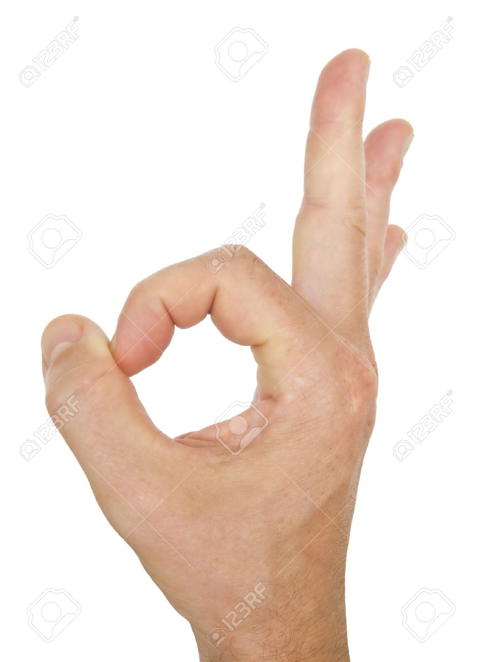 Male hand perfect gesture isolated on white background Stock Photo - 10871183