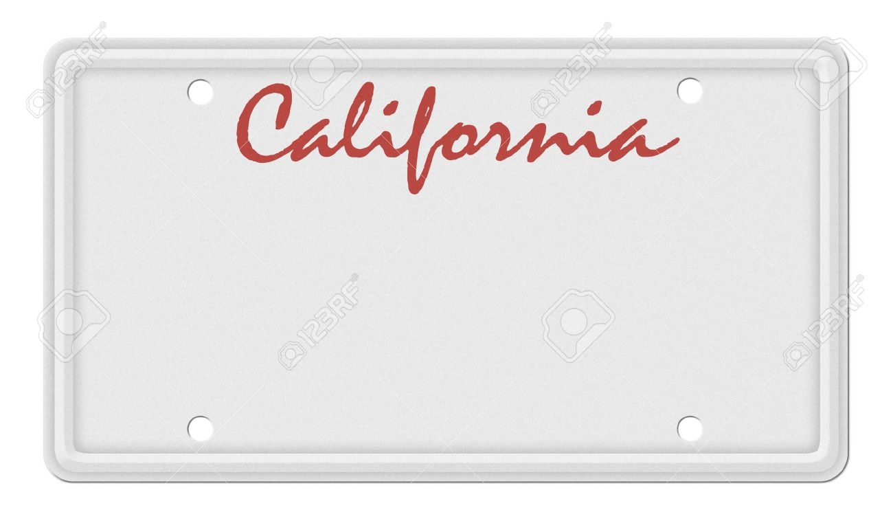 california license plate background template stock photo picture