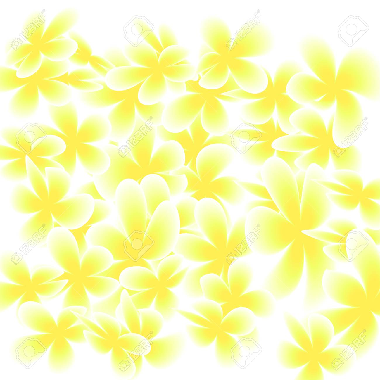 Gentle Yellow Flowers Confetti Background Spring Magnolia Pattern