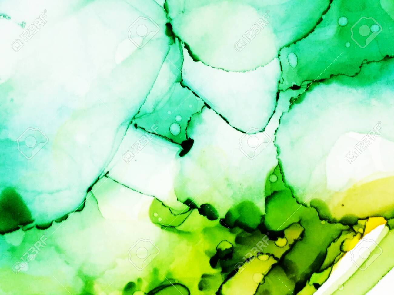 Alcohol Ink Artwork Ink Paint Texture Light Green Marble Slab Stock Photo Picture And Royalty Free Image Image 150230795