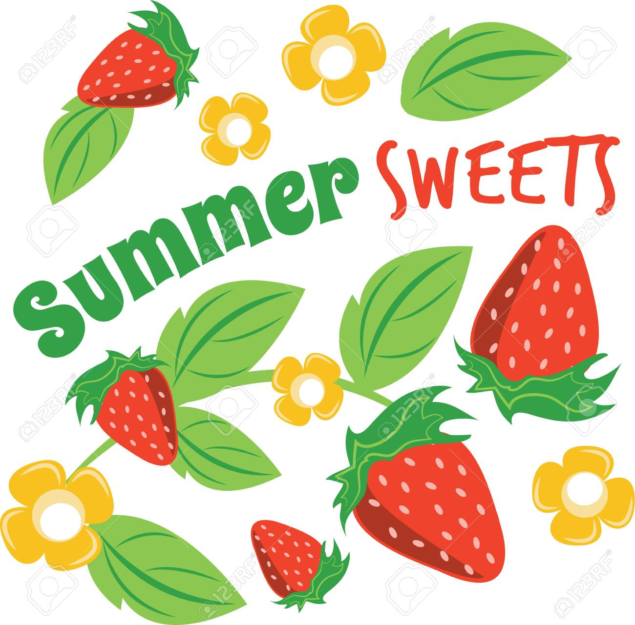 Enjoy Ripe Strawberries Vector - Little screams summer quite like the sweet scent and ripe taste of fresh, plump strawberries. Enjoy the harvest with this design on cozies, ...