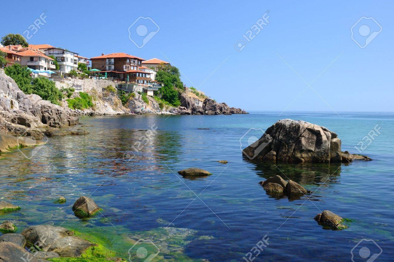 Black Sea coast in ancient town of Sozopol in Bulgaria - 10479233