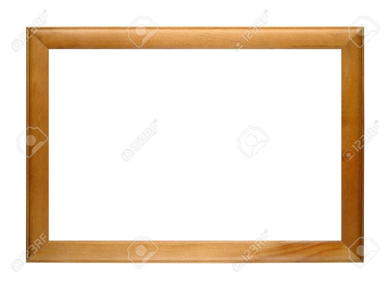 Wooden photo frame isolated on white background - 19105112