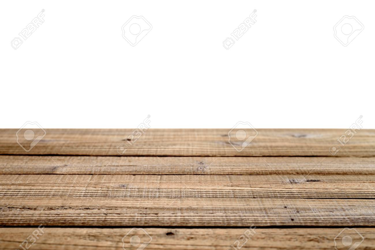 Old wooden table isolated on white background Shallow depth of field - 26282857