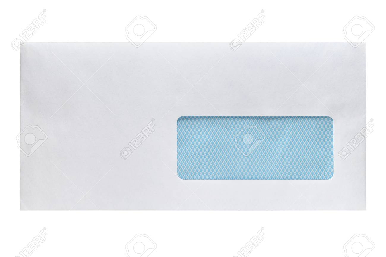 Enveloppe Vide Avec Fenêtre Isolé Sur Fond Blanc Banque Dimages Et