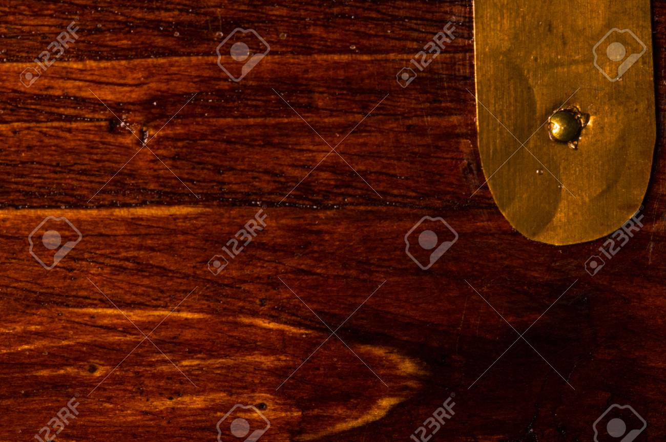 Exceptionnel Stock Photo   Texture Dark Weathered Teak Wood With Copper Details, Close Up