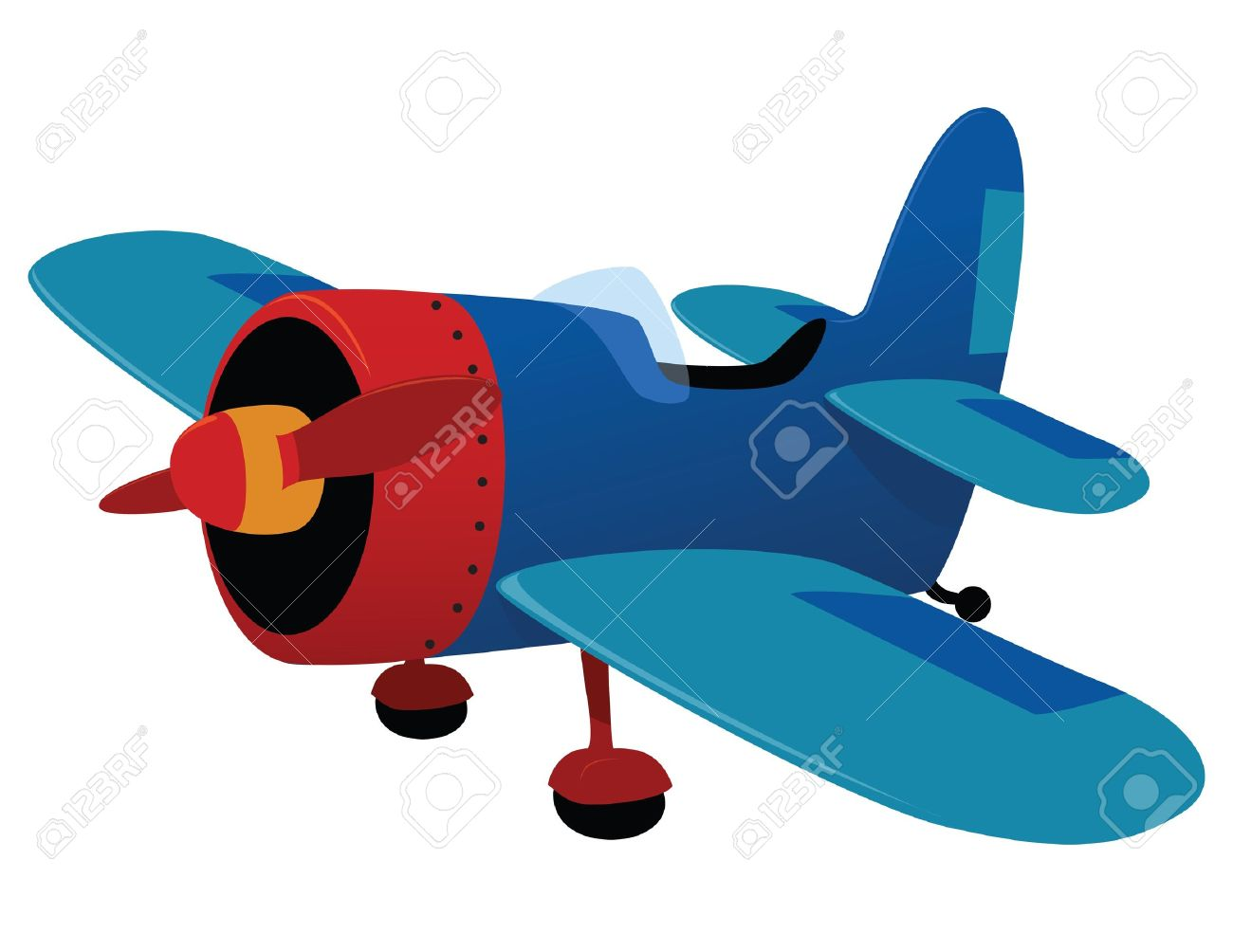 Retro Plane Toy. Vector Illustration Royalty Free Cliparts ...