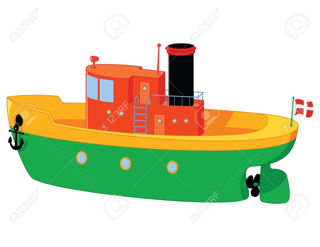 funny boat toy with a lot of details Stock Vector - 11299266