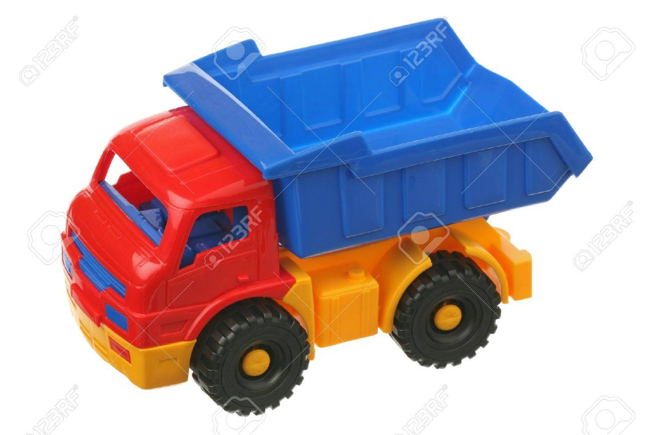 Toy truck is isolated on a white background Stock Photo - 9391080