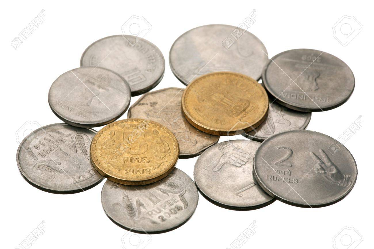Indian rupees are isolated on a white background Stock Photo - 9412012