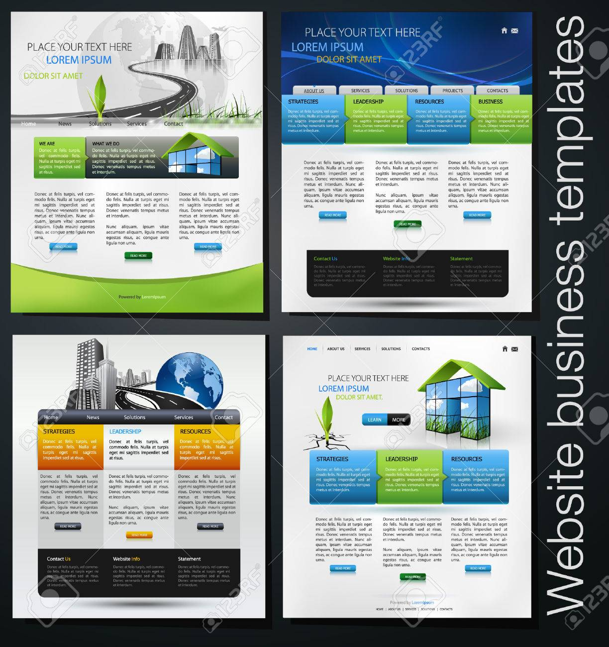 Exclusive Website Business Templates, First Set Royalty Free ...