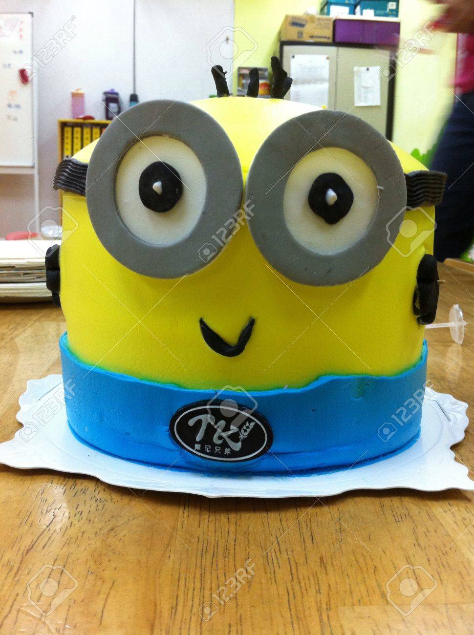 Astonishing Minions Birthday Cake Stock Photo Picture And Royalty Free Image Funny Birthday Cards Online Fluifree Goldxyz