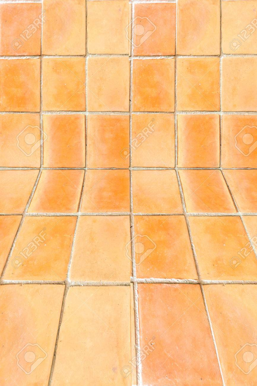 The Square Clay Tile Floor Pattern Background Stock Photo Picture