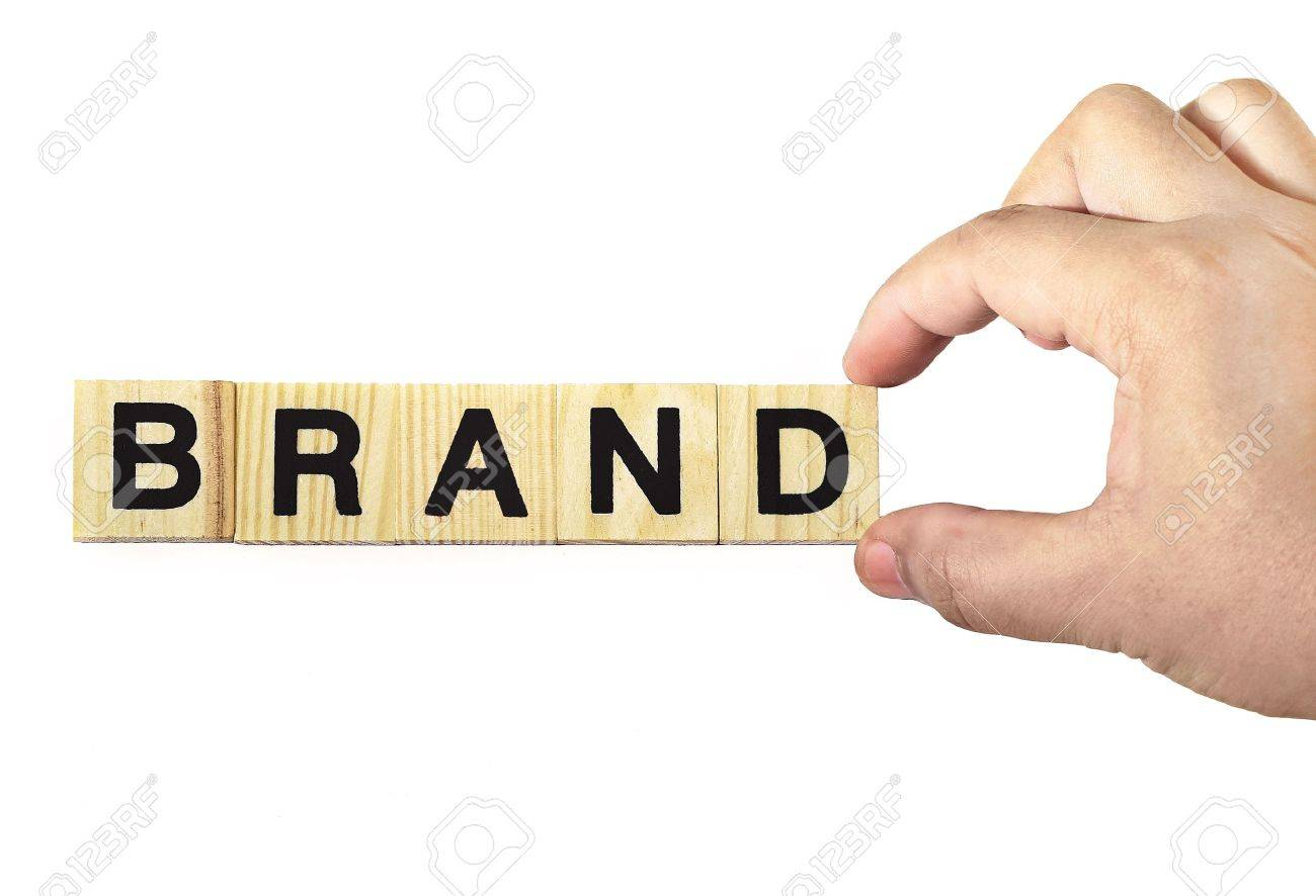 a hand building brand on white background Stock Photo - 12773546