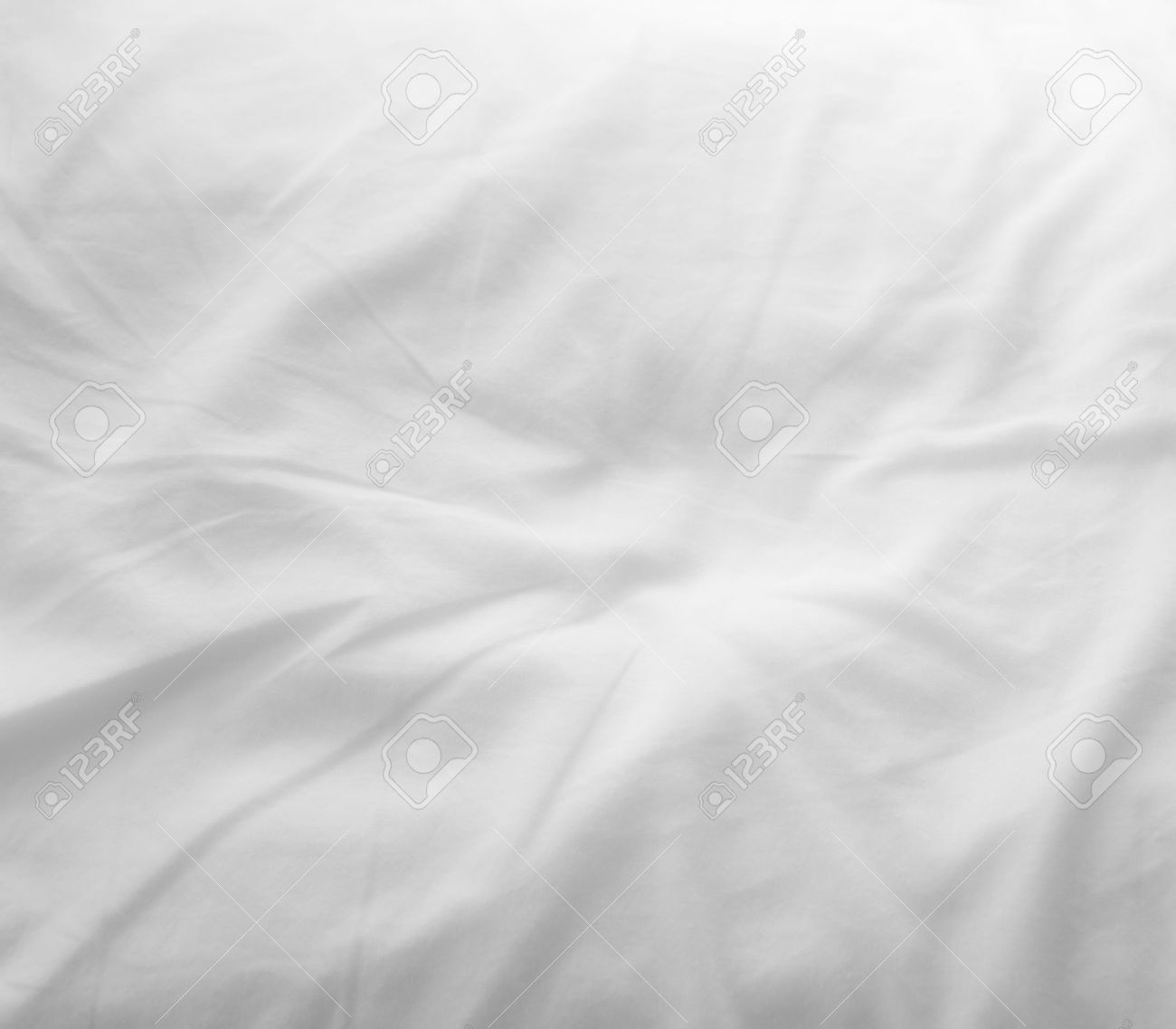 White bed sheets texture - Soft White Bed Sheets Background Stock Photo 36495610