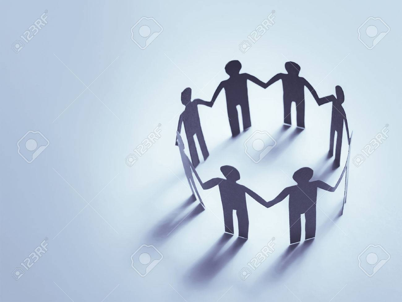 unity of paper human team work - 53803464