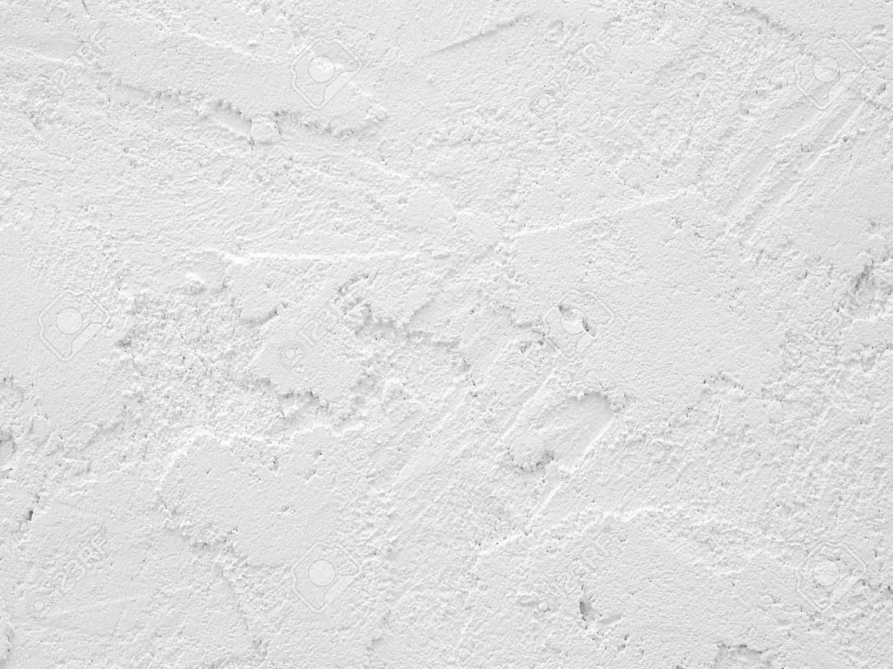 texture of rough white cement wall - 58806302