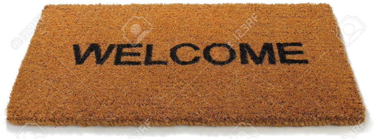 14248475-a-hessian-welcome-mat-matt-on-a