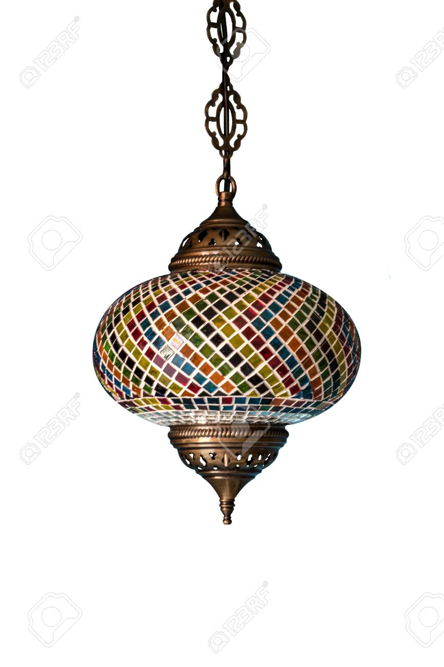 colorful chandelier lighting. Delighful Chandelier Beautiful Chandelier Light With Colorful Decorated In Indian Style Isolated  On White Background Stock Photo  For Colorful Chandelier Lighting N