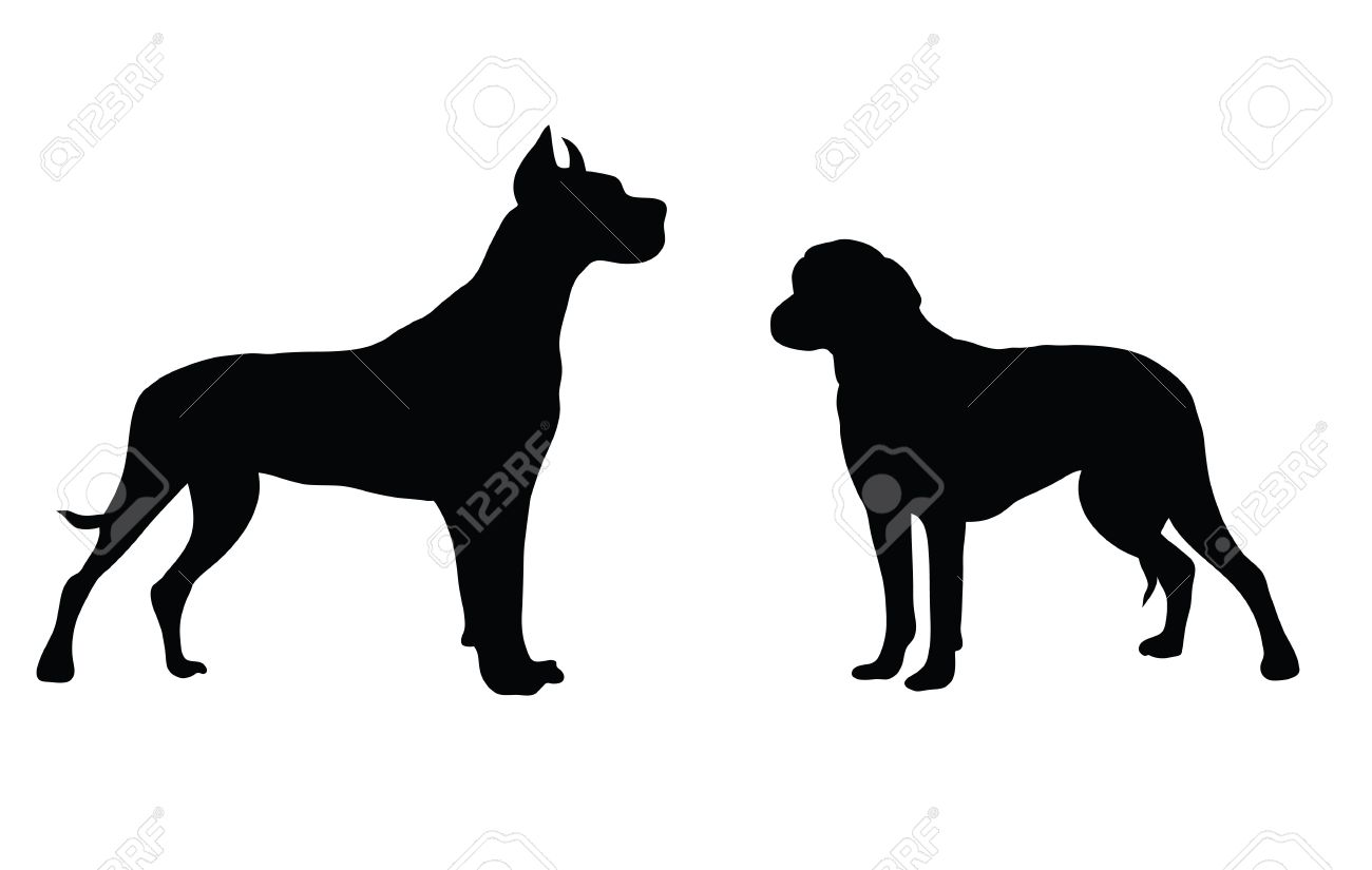 Abstract black silhouette of a dog. Stock Vector - 10825803