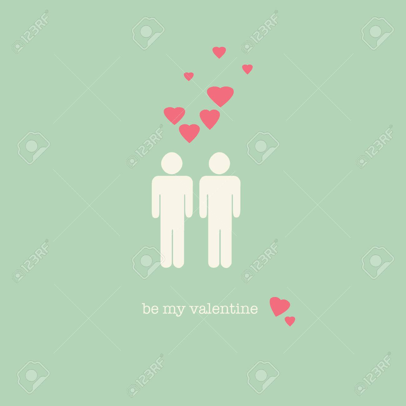 a sweet vintage gay valentines day card stock photo 35789572 gay valentines day cards