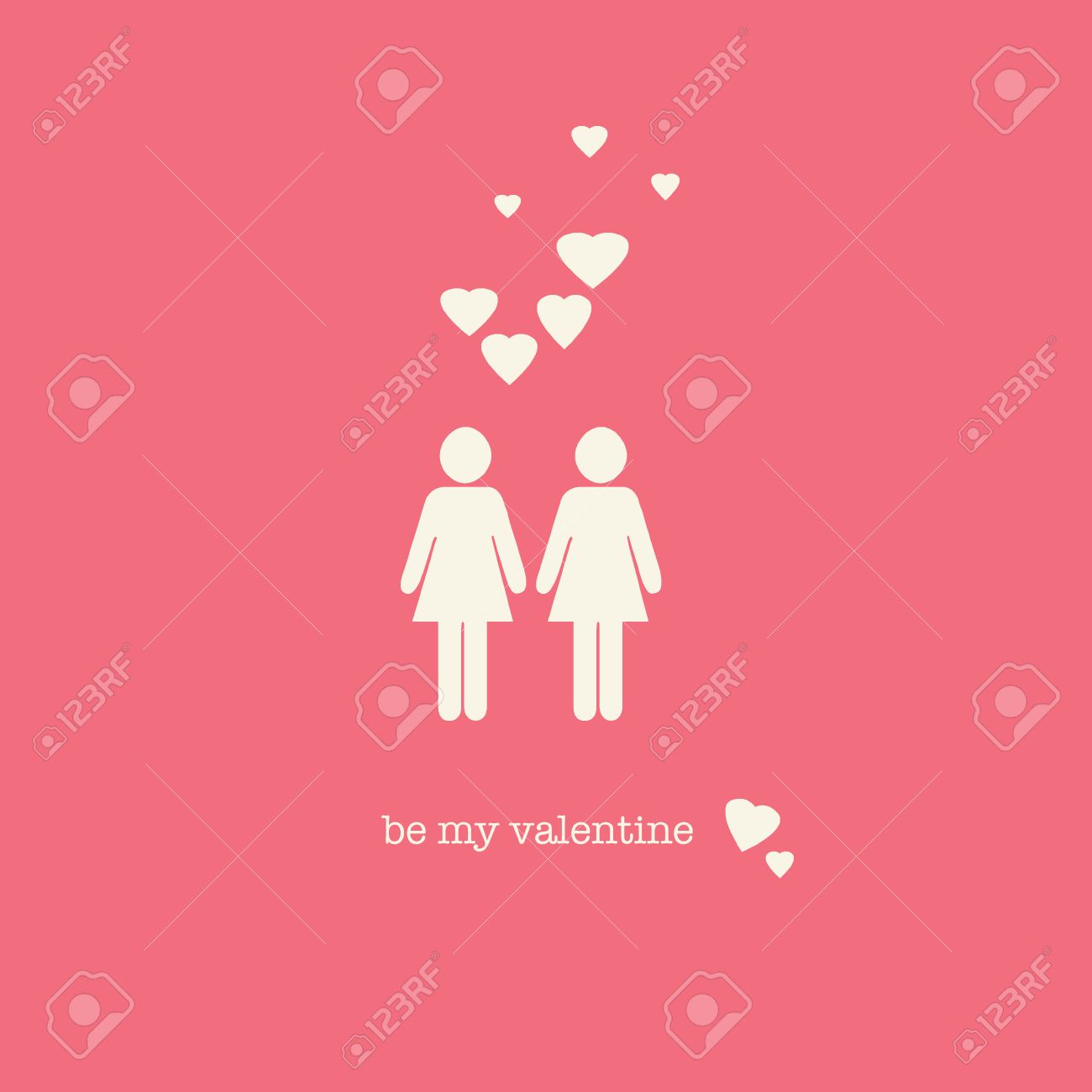 A Sweet Valentines Day Card With A Lesbian Couple Figures And – Lesbian Valentines Day Cards