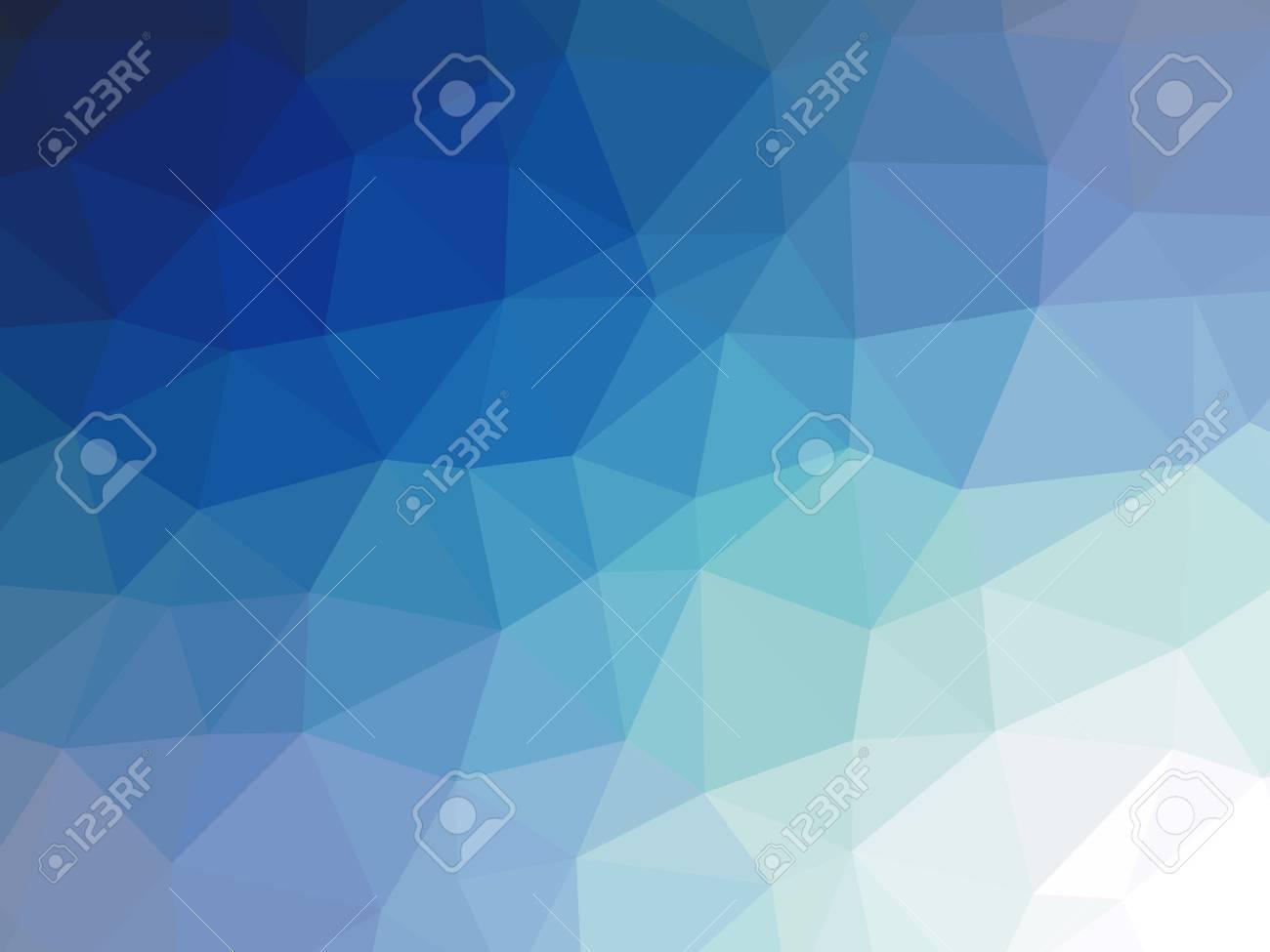 Marine Teal Dégradé Bleu Polygone En Forme De Fond Banque Dimages