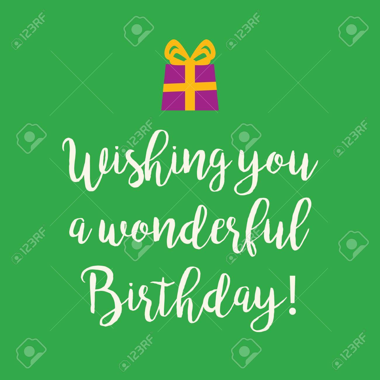 Cute Wishing You A Very Happy Birthday Greeting Card With A Text
